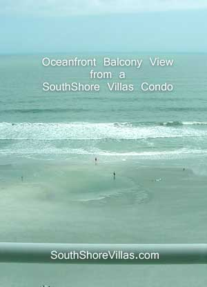 View from an Oceanfront Balcony at South Shores